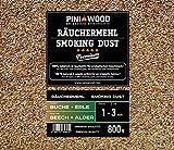 PINI Räucherchips Buche und Erle 1-3 mm gemischt 800 gr Smoking Chips Räucherspäne