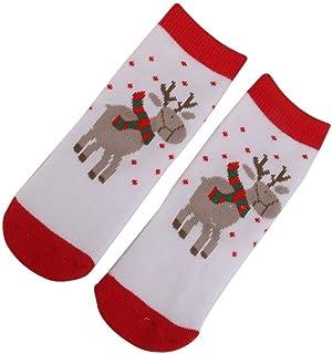 1 par para bebé Ciervo patrón Navidad Calcetines Accesorios Regalos TAMAÑO S