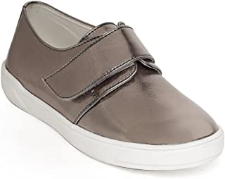 Bruno Manetti Unisex Kids Gunmetal Faux Leather Sneakers