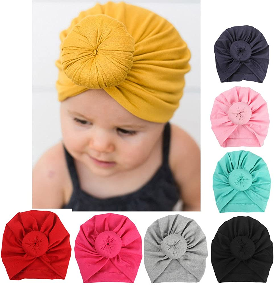 Infant Boy Girl Baby Bow Beanie Cap Toddler Infant Cotton Turban Soft India Hats