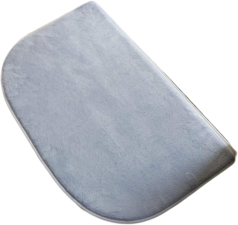 Latex Backing Non-Slip Door mat,Indoor Entrance Rug Floor mats shoes Scraper Bathroom Kitchen Household Water Absorption Suede Carpet-bluee 45x75cm(18x30inch)