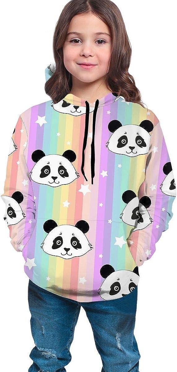 Delerain Panda Hoodies Sweatshirts for Kids Teens Hoody Tops with Pockets