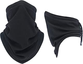 Drawstring NeckGaitersWarmer/Half Face Cover – Fleece Adjustable Balaclava for men women