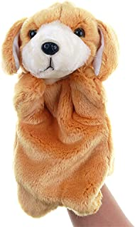 Sisyria Cute Animal Toys Small Dog Toy,Soft Plush Hand Puppet Soft Fluffy Dog Doll for Parent-Child Game, Children's Drama...