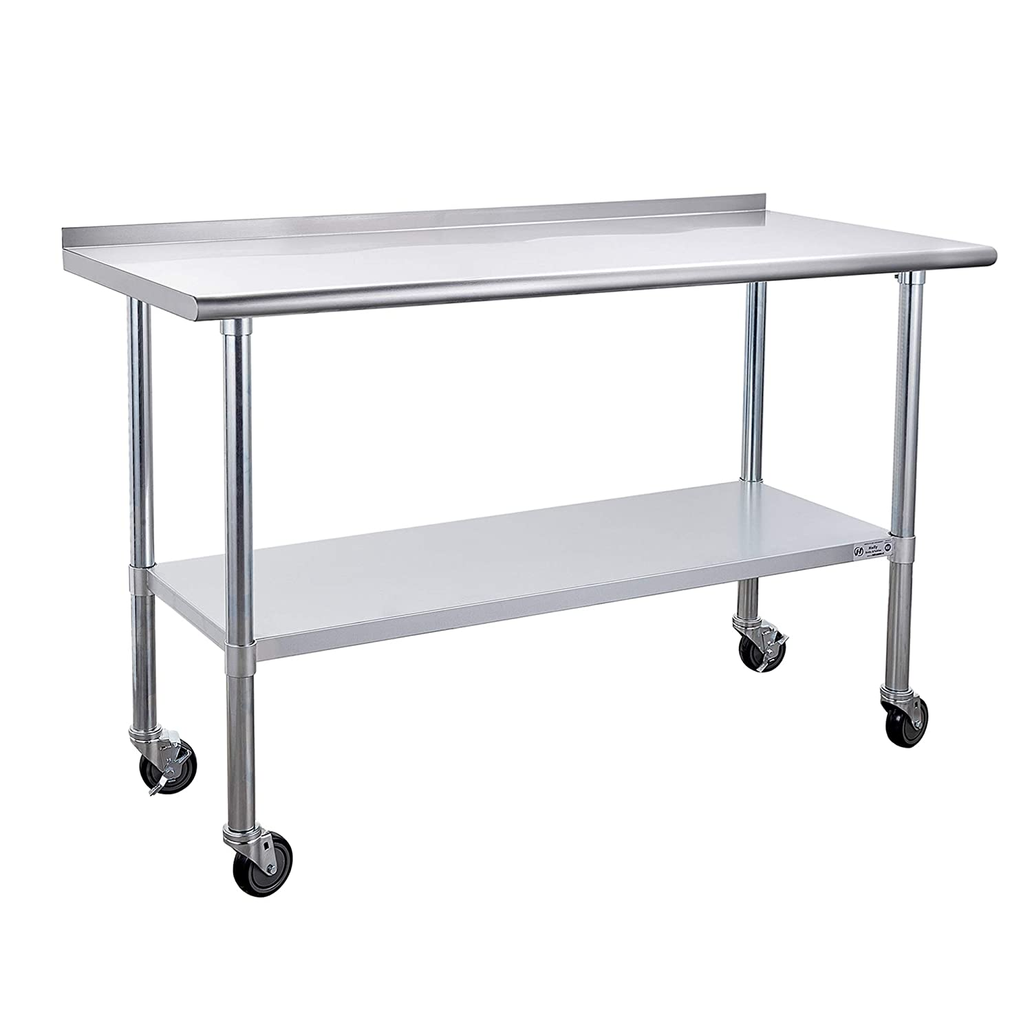 Stainless Steel Fashion Table for Prep Work Caster Inches x 60 with 24 Genuine