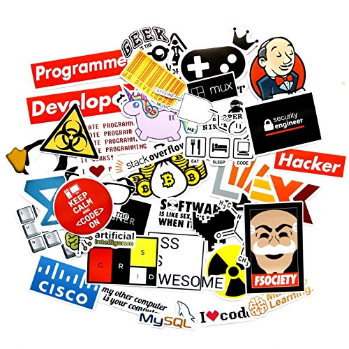 Graffiti funny stickers 100pcs/pack for phone case laptop hydroflasks ntag215 nfc sticker for developer geek