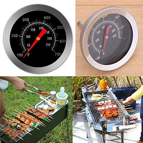 Whitelotous Stainless Steel BBQ Grill Meat Thermometer Dial Temperature
