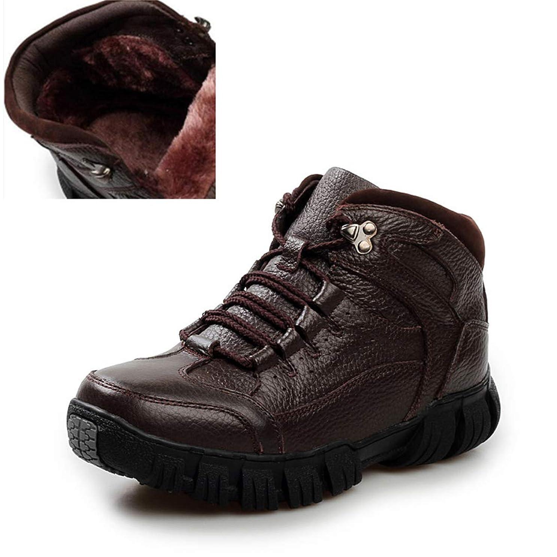 臭い引き出し外科医NiuBuLaio 暖かいウィンターメンズブーツ 本革ブーツ メンズ冬靴 メンズミリタリーファーブーツ メンズシューズ