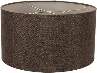 HomeConcept 181810DRHB Chocolate Burlap Shallow Drum Lampshade 18