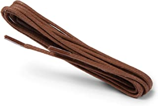Kaps Waxed Round Thin Laces, 2 mm quality 100% cotton round shoe laces for casual and fashion footwear, made in Europe, 1 ...