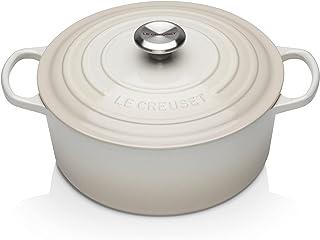 Le Creuset Enameled Cast Iron Signature Round Dutch Oven, 5.5 qt, Meringue