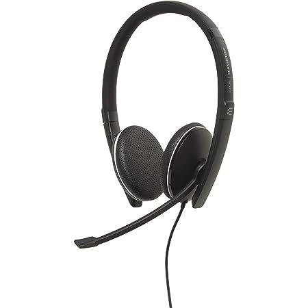 Sennheiser SC 165 USB (508317) - 両面 (双眼鏡) ヘッドセット ビジネスプロフェッショナル用 | HDステレオサウンド ノイズキャンセリングマイク USBコネクター (ブラック)