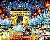 大人のためのジグソーパズル1000ピース-素晴らしい夜景のある道-キッズパズルおもちゃ教育パズルジグソー