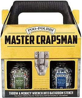 Poo-Pourri Before-You-Go Toilet Spray, Gift Set, Master Crapsman Gift Set ,In Tackle Box