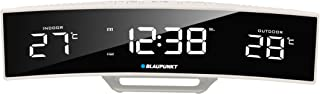 Blaupunkt CR12WH Radioväckarklocka med LED-skärm, temperatur inre temperatur utomhustemperatur tid väckarklocka vit
