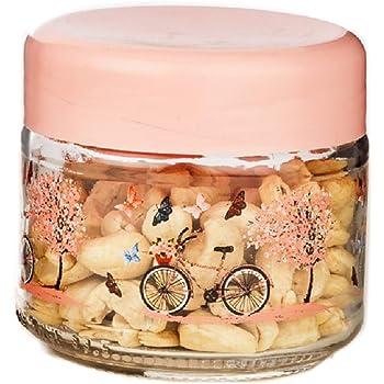 SignoraWare Bicycle Glass Jar, 300 ml, Transparent