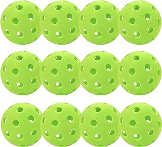Sponsored Ad - 12 Pack Pickleball Balls Outdoor 40 Holes Training Pickle Ball