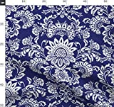 Indigo, Blau, Blau Und Weiß, Damast, Brokat, Blumen,