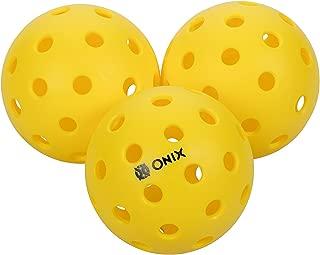 pack of 6 Escalade Onix Fuse Indoor Pickleballs Yellow Escalade Sports