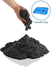 CoolSand Black 5 Pound Refill Pack - Including: 5 Pounds Moldable Indoor Play Sand, Storage Bucket and Inflatable Sandbox