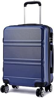 Maleta de Cabina de ABS de 20 Pulgadas con Diseño Esculpido en Horizontal,4 Ruedas,55x40x22cm(Azul Marino)