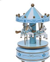CUHAWUDBA Musical Karussell Pferd Holzkarussell Spieluhr