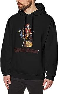 ME COO Men's Graphic Captain Morgan Party Pullover Hoodie Sweatshirt
