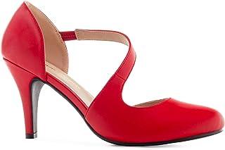 Andres Machado - Chaussures d´été pour Femme/Adolescentes Talons - AM5358 -Escarpins à Enfiler - Chaussures à Talons en So...