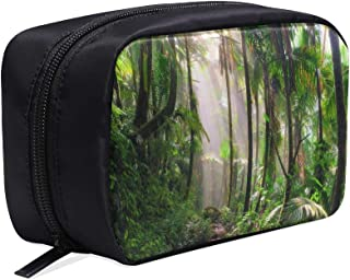 Scenery In The Primitive Rainforest Portable Travel Makeup Cosmetic Bags Organizer Multifunction Case Small Toiletry Bags For Women And Men Brushes Case