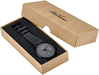Charisma Analog Leather Watch For Men - Black