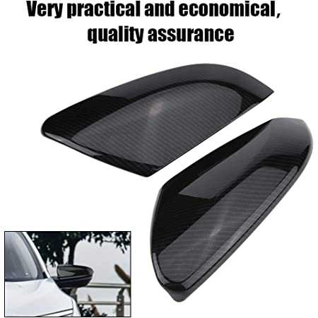 1 Pair Rear Carbon Fiber Style Rearview Mirror Cover Caps for Honda Civic Sedan Coupe 2016-2019 Suuonee Rearview Mirror Cover