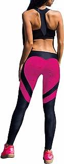 FITTOO Women's Heart Shape Yoga Pants Sport Pants Workout Leggings Sexy High Waist Trousers