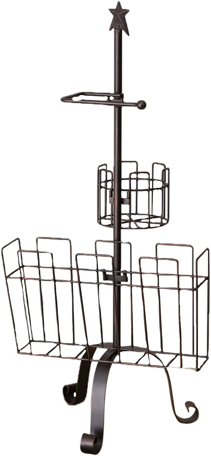 Your Hearts Delight Primitive Star Bathroom Rack, 34-1 2 by 41cm by 28cm