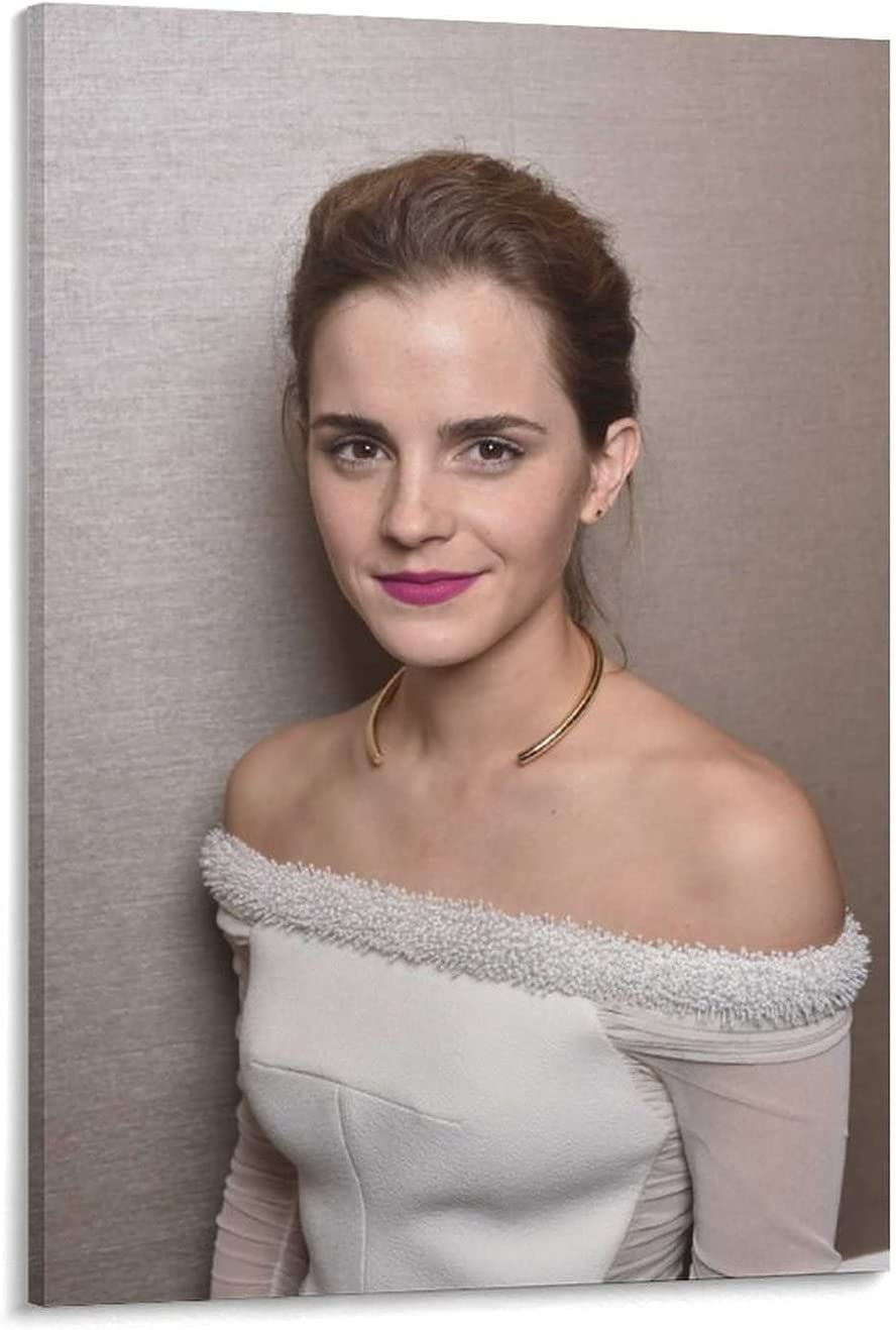 Special sale item YUEMENG Emma Watson Actress Poster Max 61% OFF Gift Photo Clothes White Life