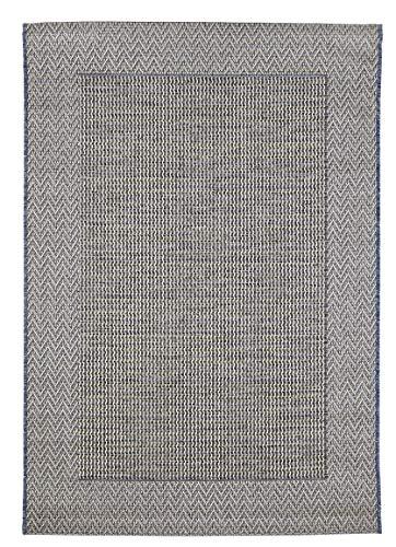 andiamo Alfombra Tejida por Clyde sin Pelo. Cenefa Beige y Antracita, B086F6CWFY, 120 x 170 cm