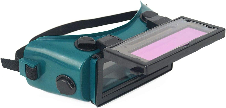 Gafas de protección automáticas para soldadores, para obras, soldadura eléctrica, soldadura a gas (verde oscuro)