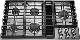 KitchenAid KCGD506GSS 36 5 Burner Downdraft Stainless Steel Gas Cooktop KCGD506GSS