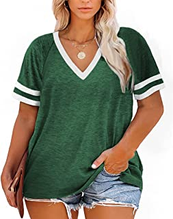 Plus-Size Tops for Women Short Sleeve T Shirts V Neck...