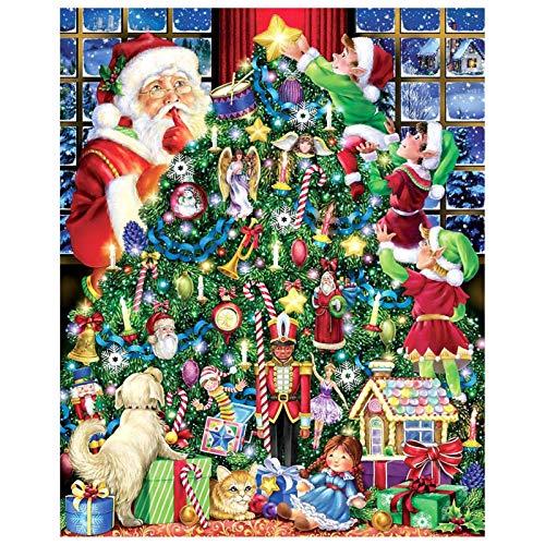 70x50cm 1000PCS Christmas Jigsaw Puzzle, Multi Style Village Christmas Puzzle, Christmas Jigsaw Puzzle Games Decoration, Parent Child Christmas Jigsaw para niños, Adultos