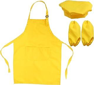 89509e52a28 Juego de delantal con gorro de cocinero para niños, juego de regalo completo  de cocina