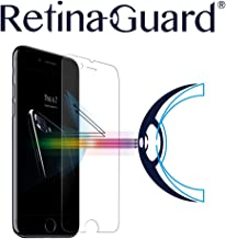 RetinaGuard iPhone 7 Anti Blue Light Tempered Glass Screen Protector (Transparent), SGS and Intertek Tested, Blocks Excessive Harmful Blue Light, Reduce Eye Fatigue and Eye Strain