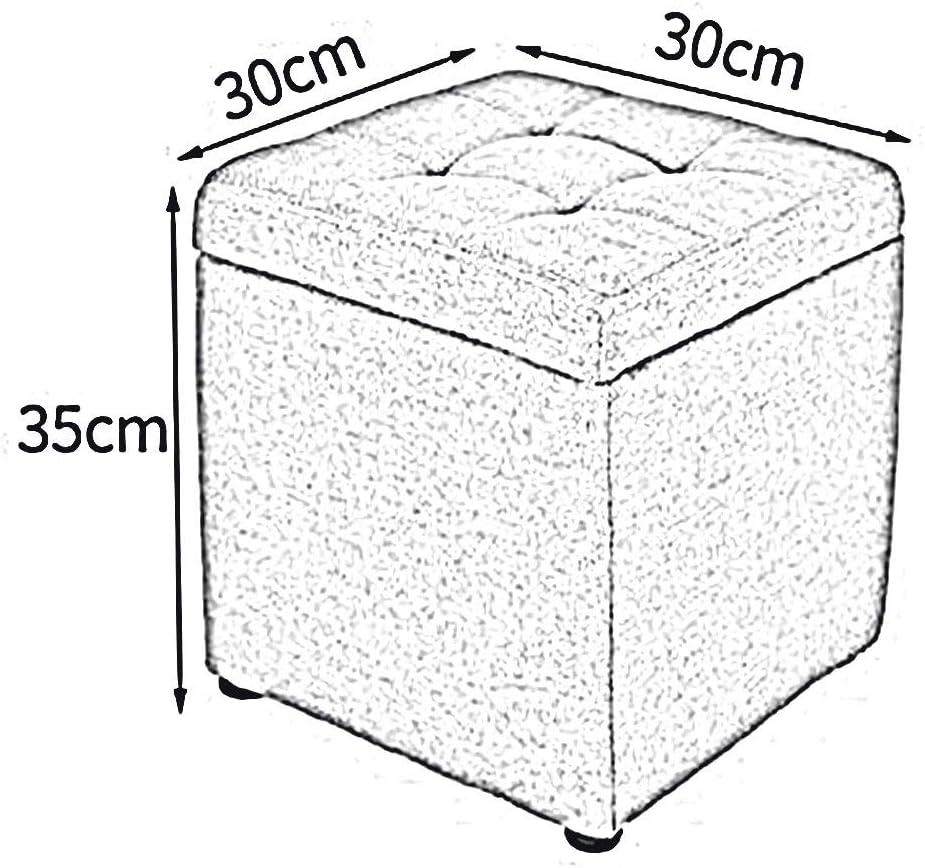 Dall Poufs Et Repose-Pieds Tabouret De Rangement À Usages Multiples Cubes Box Toile De Lin Banc De Chaussure Chambre, 9 Couleurs (Couleur : Vert) Blue1
