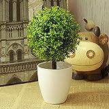 Mayitr Artificielle Topiaire Pot Plantes Jardin Décoration (Vert)