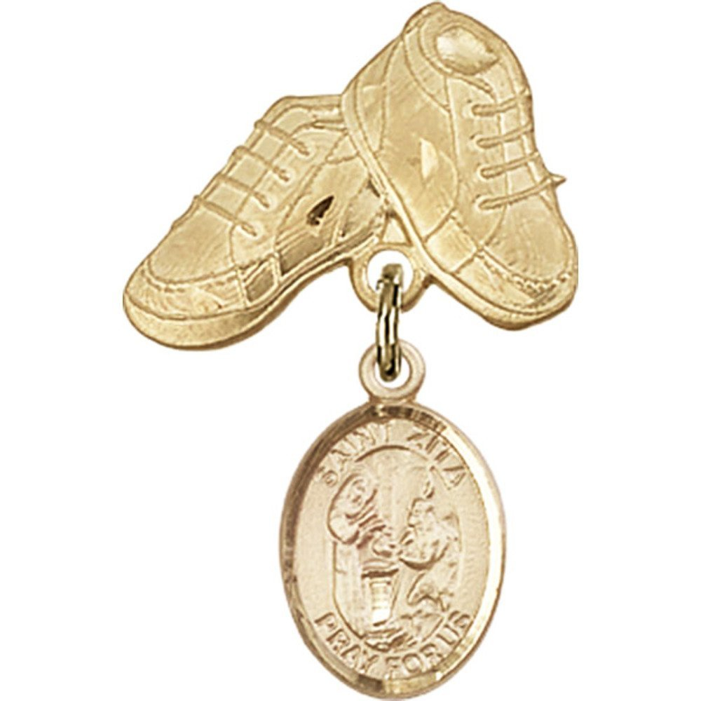 14kt Yellow Gold Baby Badge Miami Mall with P Zita Charm Fashion Boots and St.