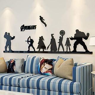 Super Hero Wall Sticker Series - Hawkeye,Captain America, Hulk, Loki, Thor, Black Widow, Ironman, Thanos Vinyl Decorative ...
