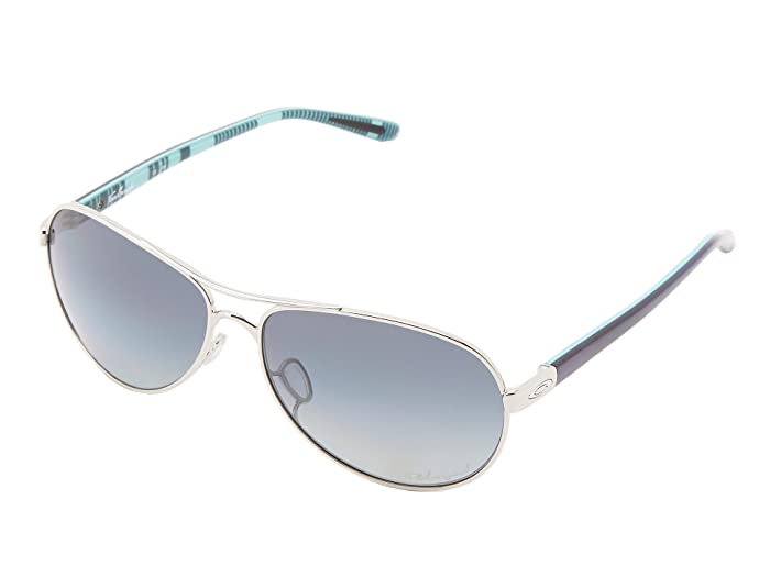 Oakley Feedback (Polished Chrome w/ Grey Grad Polarized) Sport Sunglasses