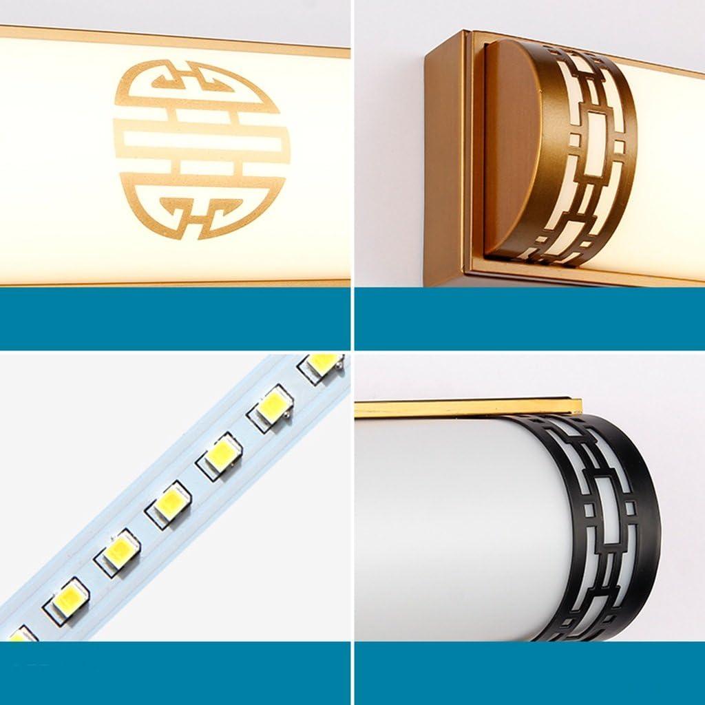 YY_Z LED Spiegelleuchte, Wandleuchte Badezimmer Badezimmerspiegel Lampe Retro Schlafzimmer Spiegellampe (Farbe : Warmes Licht-20W/48CM) Weißes Licht-20w/48cm