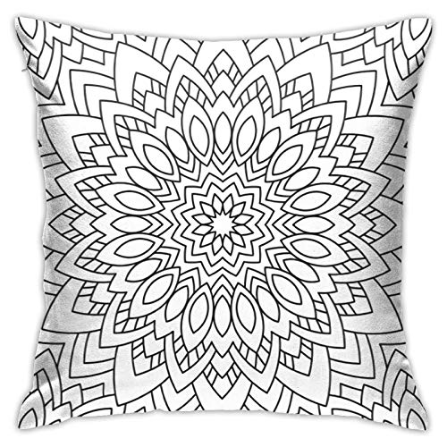 ETHAICO Grey and White Decor Square Pillow Cases for Bed Supersoft Decorative Pillowcase,18 inch, 45x45cm