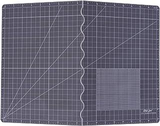 Aibecy カッターマット、451 ×301 × 1.8mm折りたたみ式カッティングマット、灰色の耐久性のある滑り止めPVCボードの自己修復マットで、執筆、絵画、彫刻、ペーパーカット、裁縫、その他のアート&クラフトプロジェクトに適しています