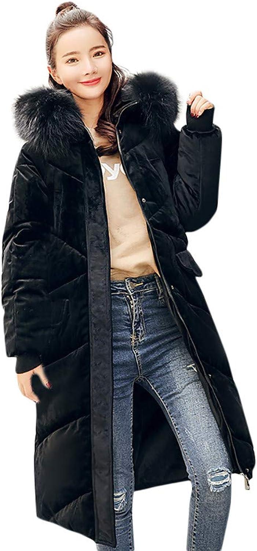 BETTERUU Women Outerwear Hooded Coat Long CottonPadded Jackets Pocket Coats
